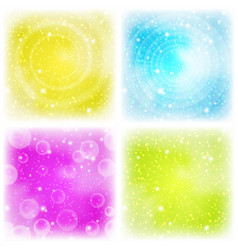 Abstract background colorful set vector