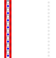american abstract flag ribbon patriotic frame vector image