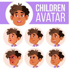 arab muslim boy avatar set kid vector image