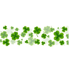 background st patricks day card vector image