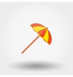 Beach umbrella Flat vector