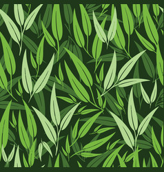 Beautiful green botanical leaf seamless vector