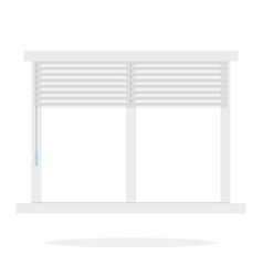 blinds on window vector image