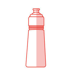 Bottle sport gym shadow vector