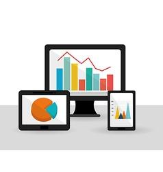Business statistics design vector image