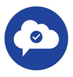 Cloud check icon computing concept vector