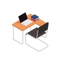 College classroom interior icon vector