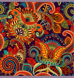 colorful seamless paisley pattern decorative vector image