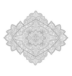 coloring book page with detailed abstract art vector image