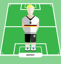 Computer game Germany Soccer club player vector