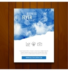 Cover Report Business Colorful Triangle Polygonal vector image