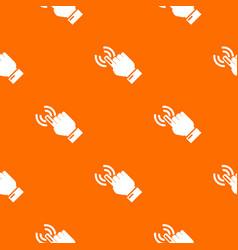 cursor hand pattern orange vector image