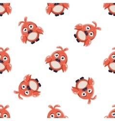 Cute Red Macaw Seamless Pattern vector