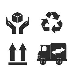 Delivery icon set design vector