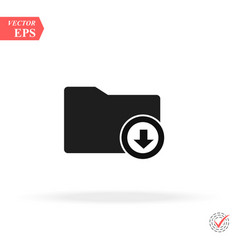 download arrow with folder icon concept web vector image