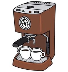 Electric espresso maker vector