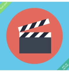 Film clap board cinema - vector image