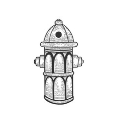 fire hydrant sketch engraving vector image