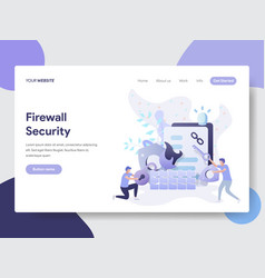 Firewall security concept vector