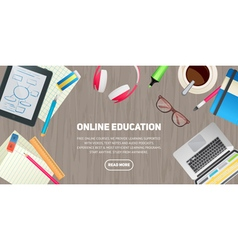 Flat design concept for education study vector image