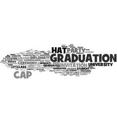 Graduation word cloud concept vector