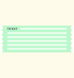green ticket coupon icon vector image