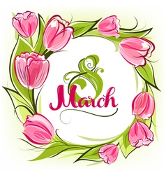 Greeting card 8 March vector image