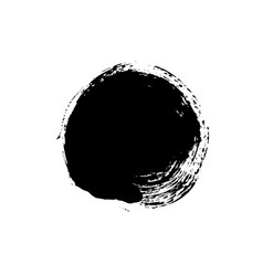Grunge circle isolated on white vector