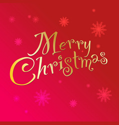handwritten text merry christmas vector image