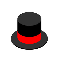 Hat cylinder isometric style isolated cap vector