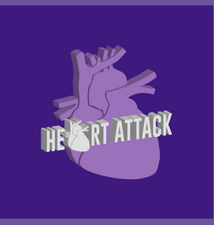 heart attack logo icon design medical vector image