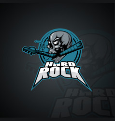 Human skull with an inscription hard rock image vector