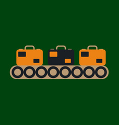 icon in flat design for airport baggage check vector image