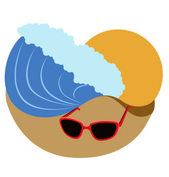 isolated summer vacation icon vector image