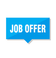 Job offer price tag vector