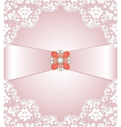 Lace and jewelry vector image