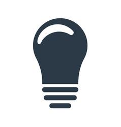 lightbulb icon idea sign solution thinking vector image