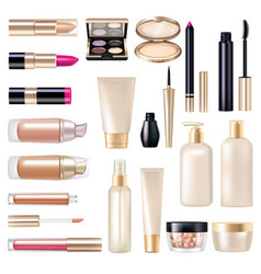 Makeup items super set vector