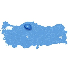 Map of Turkey Cankiri vector image vector image