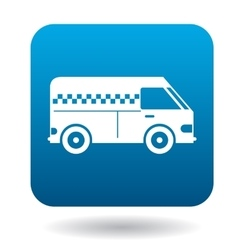 Minibus taxi icon in flat style vector
