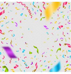 multicolored confetti on a checkered background vector image