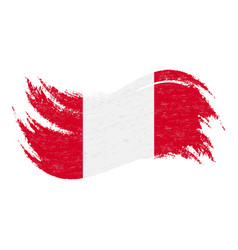 national flag of peru designed using brush vector image