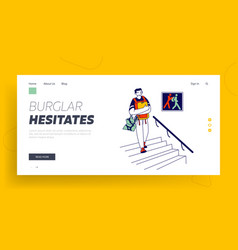 Pickpocketing activity website landing page vector