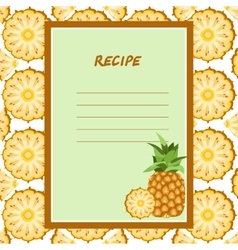 pineapple recipes on a seamless texture vector image