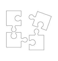 Puzzel of the icons good game skill vector