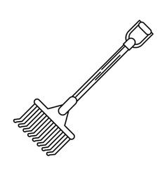Rake tool of farm design vector