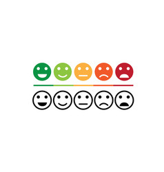 rating satisfaction feedback in emotions design vector image