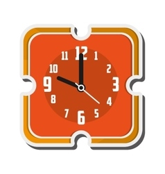 retro wall clock icon vector image