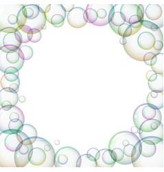 round frame with soap bubbles vector image