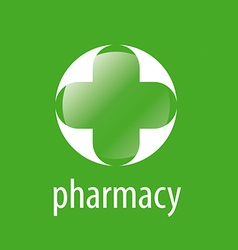 Round logo cross for pharmacy vector image
